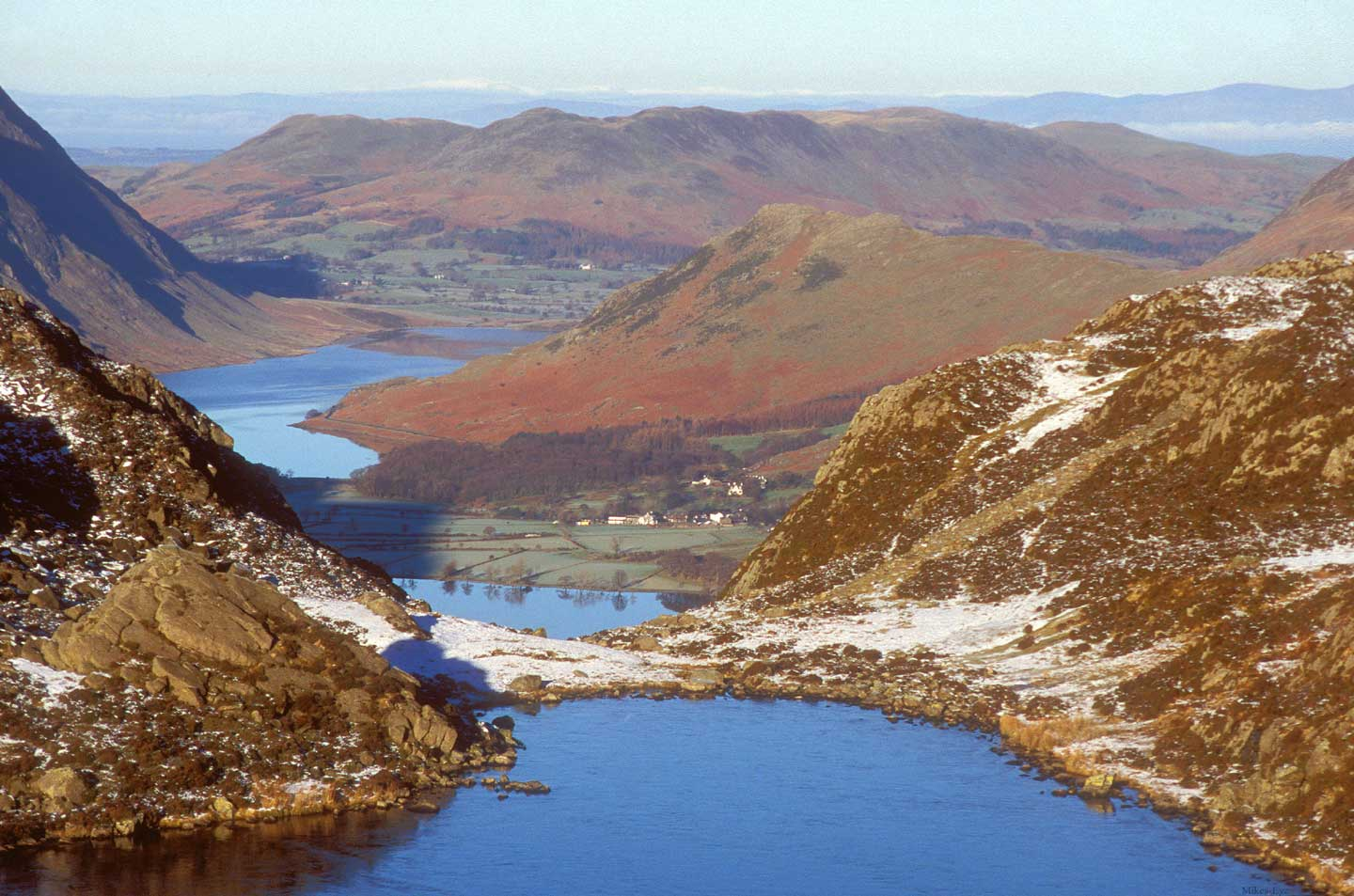 Buttermere And Crummock From Blackbeck Tarn
